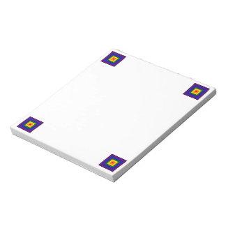 Cuadrado del arco iris bloc de papel
