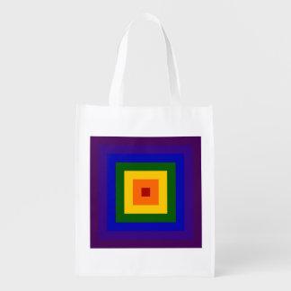 Cuadrado del arco iris bolsas de la compra