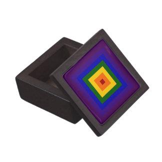 Cuadrado del arco iris caja de joyas de calidad