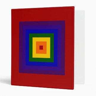 Cuadrado del arco iris carpeta 2,5 cm