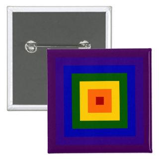 Cuadrado del arco iris chapa cuadrada 5 cm