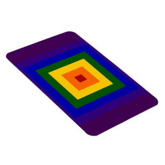 Cuadrado del arco iris imanes rectangulares