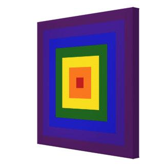 Cuadrado del arco iris impresión en lienzo