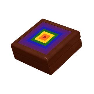 Cuadrado del arco iris caja de regalo cuadrada pequeña