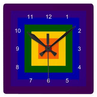 Cuadrado del arco iris reloj cuadrado