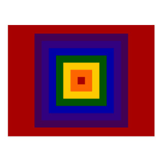 Cuadrado del arco iris tarjetas postales