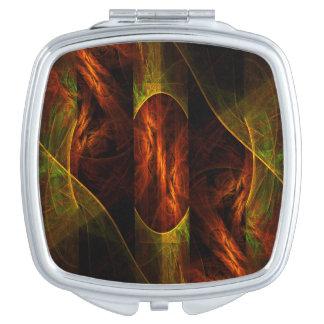 Cuadrado del arte abstracto de la selva de la espejo para el bolso