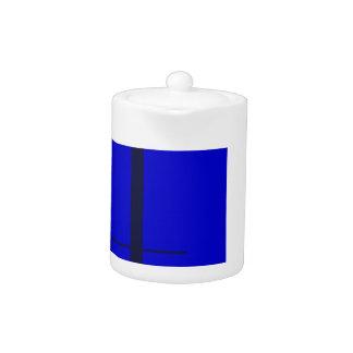 Cuadrado del azul del diseño geométrico