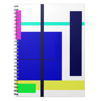 Cuadrado del azul del diseño geométrico libreta