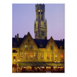 Cuadrado del Burg y torre del campanario, Brujas,  Postales