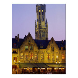 Cuadrado del Burg y torre del campanario, Brujas, Tarjetas Postales