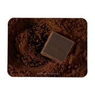Cuadrado del chocolate en polvo del chocolate imanes rectangulares