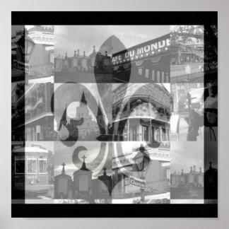 Cuadrado del collage de New Orleans [impresión de  Poster