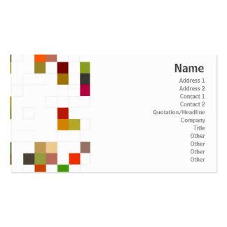 Cuadrado del color - negocio plantillas de tarjetas de visita