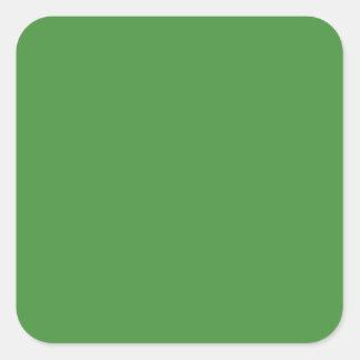 Cuadrado del color verde pegatina cuadradas personalizadas