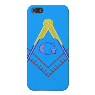 Cuadrado del color y caso de Iphone del compás iPhone 5 Protector