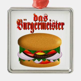 cuadrado del das Burgermeister Adorno Navideño Cuadrado De Metal