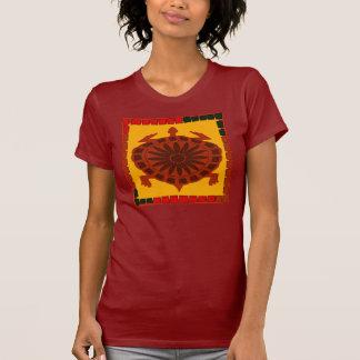 Cuadrado del edredón de la tortuga camiseta