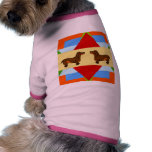 Cuadrado del edredón del Dachshund Camiseta De Mascota