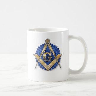 Cuadrado del Freemason y taza del compás