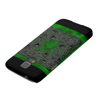 Cuadrado del gótico: Nube verde Fundas Para Galaxy S5