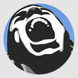 Cuadrado del grito pegatina redonda