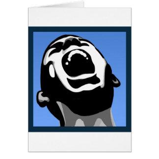 Cuadrado del grito tarjeta de felicitación