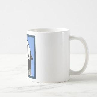 Cuadrado del grito taza básica blanca