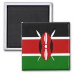 Cuadrado del imán de la bandera de Kenia