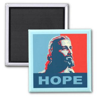 Cuadrado del imán de la esperanza de Jesús