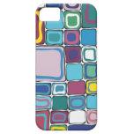 Cuadrado del multicolor iPhone 5 protectores