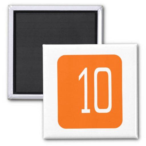 Cuadrado del naranja #10 imán