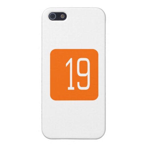 Cuadrado del naranja #19 iPhone 5 carcasa