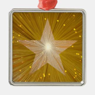 Cuadrado del ornamento de la estrella del oro ornamentos de reyes