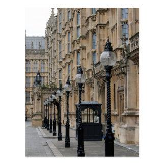 Cuadrado del parlamento - postal de Westminster