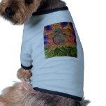 Cuadrado del pavo real ropa perro