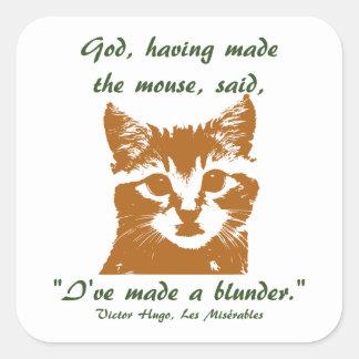 Cuadrado del pegatina: El gato