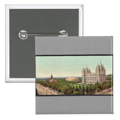 Cuadrado del templo, obra clásica Photochrom de Sa Pin Cuadrada 5 Cm