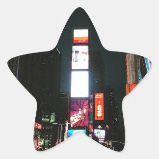 Cuadrado del tiempo, NYC Pegatina En Forma De Estrella