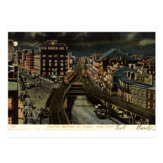 Cuadrado del tonelero en el vintage 1907 de New Yo Postal