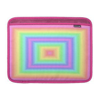 Cuadrado en colores pastel del arco iris fundas macbook air
