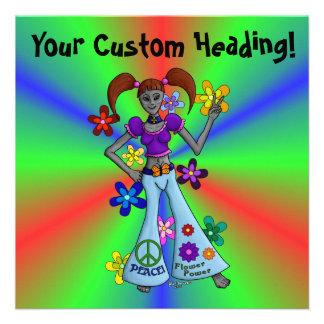 Cuadrado extranjero del hippy invitación personalizada