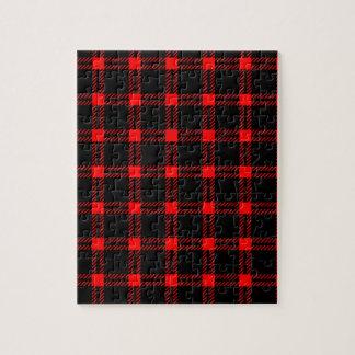 Cuadrado grande de tres bandas - rojo en negro puzzles con fotos