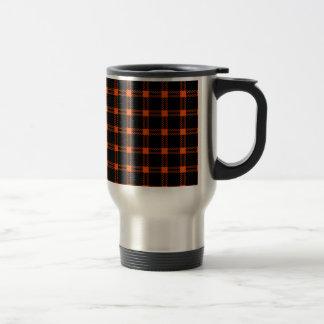 Cuadrado grande de tres bandas - Tangelo en negro Tazas De Café