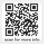Cuadrado grande del código de QR Calcomanía Cuadradas Personalizada