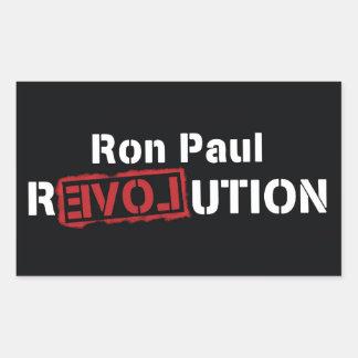 Cuadrado grande del pegatina de la revolución de