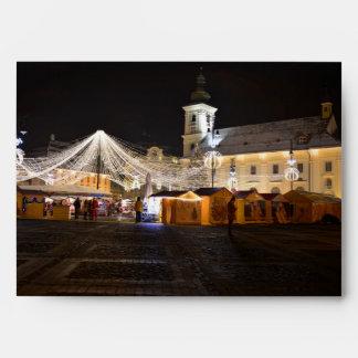 Cuadrado grande en el tiempo del navidad, Sibiu