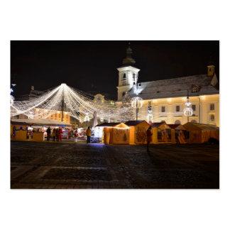 Cuadrado grande en el tiempo del navidad, Sibiu Plantillas De Tarjetas Personales