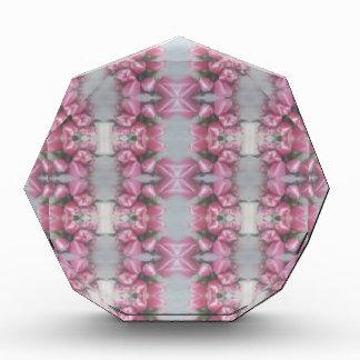 Cuadrado gris rosado de la cruz del modelo del