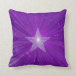 Cuadrado impreso estrella púrpura de la almohada d